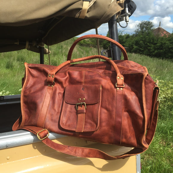The Stamford. A full leather stylish holdall by Burghley Bags