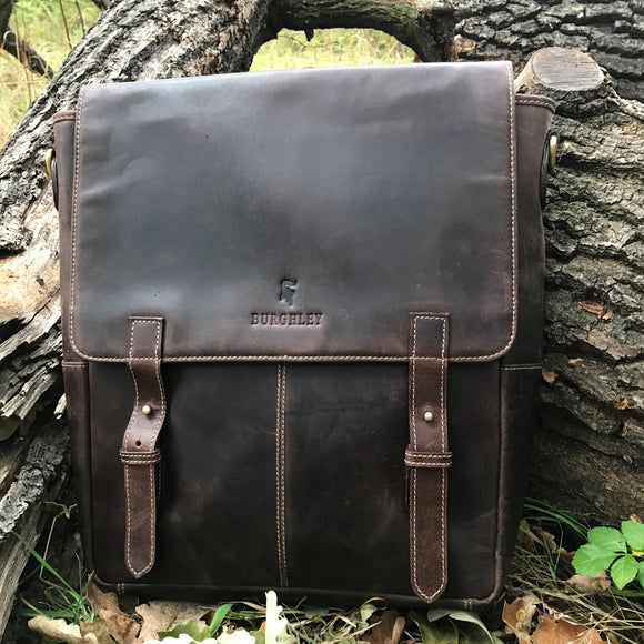 Weston retro-modern 2-in-1 leather backpack