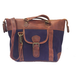 The Melton. A lightweight, country styled canvas and leather shoulder bag by Burghley Bags