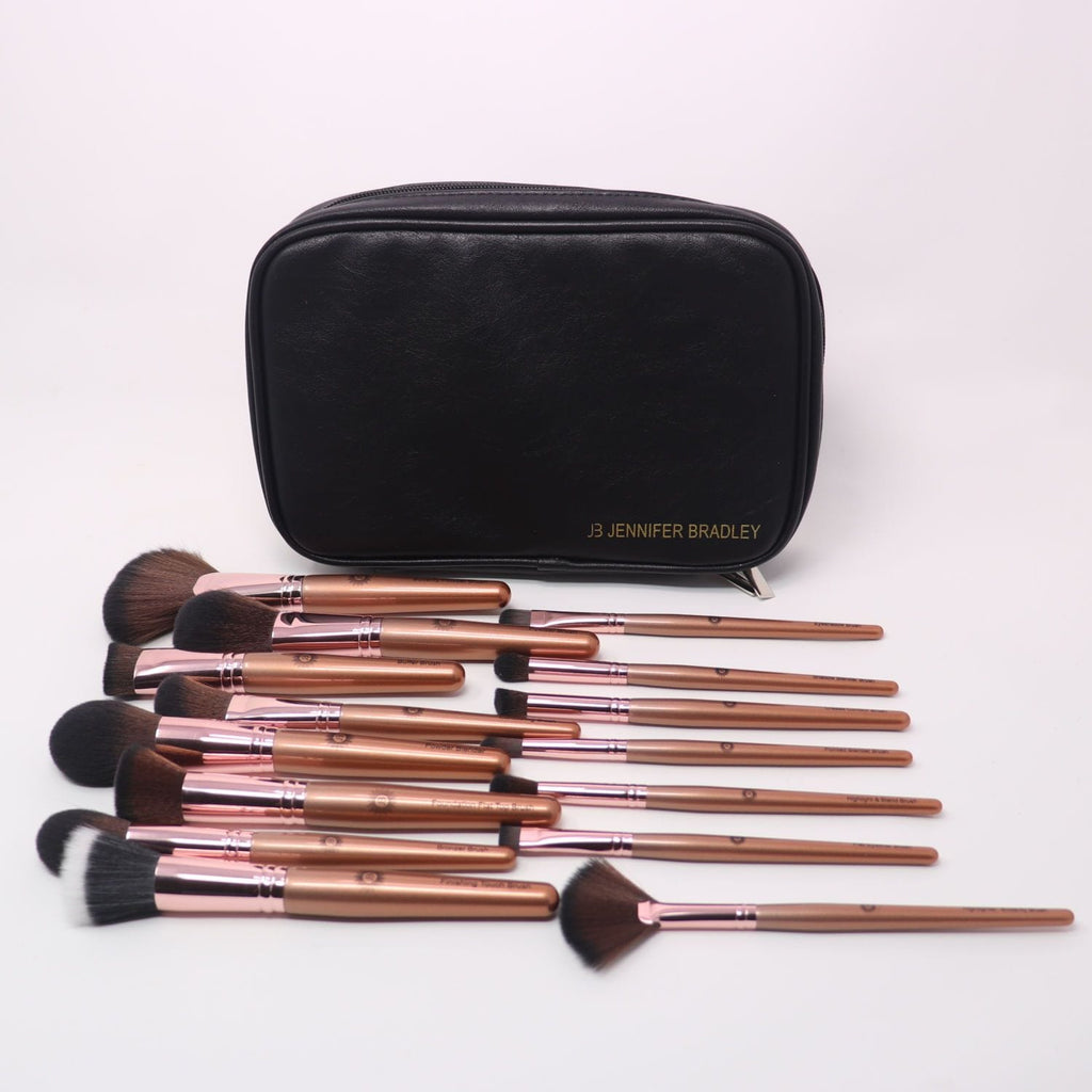 Ultimate Signature Rose Gold Vegan 15 pc Brush Set