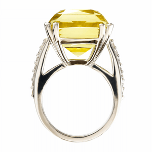 Lemon Quartz Cocktail Ring
