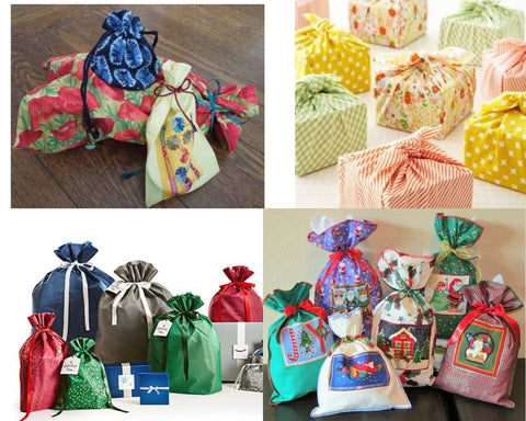 using old materials for wrapping gifts is a great eco alternative to nonrecylable paper and also reduces energy used by recyling