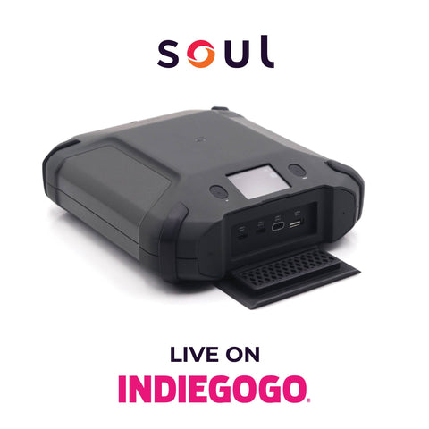 image of the soul power portable charger live on indiegogo