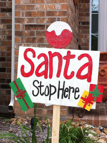 make your own recylable santa stop sign