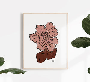 Peony Journey of Bloom Print