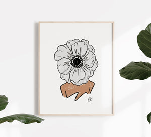 Anemone Journey of Bloom Print