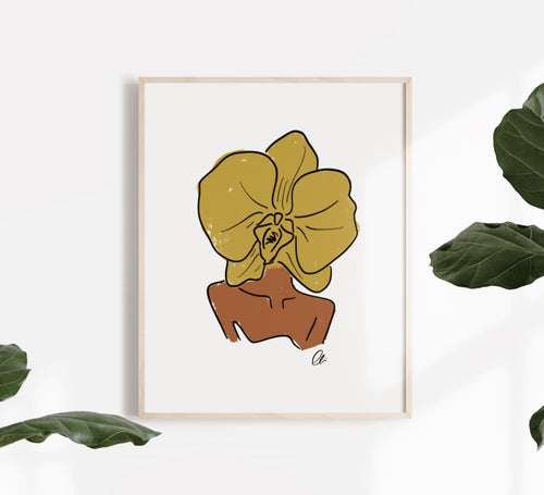 Orchid Journey of Bloom Print