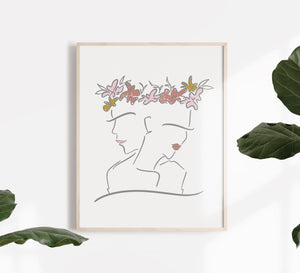 Sisterhood Bloom Print