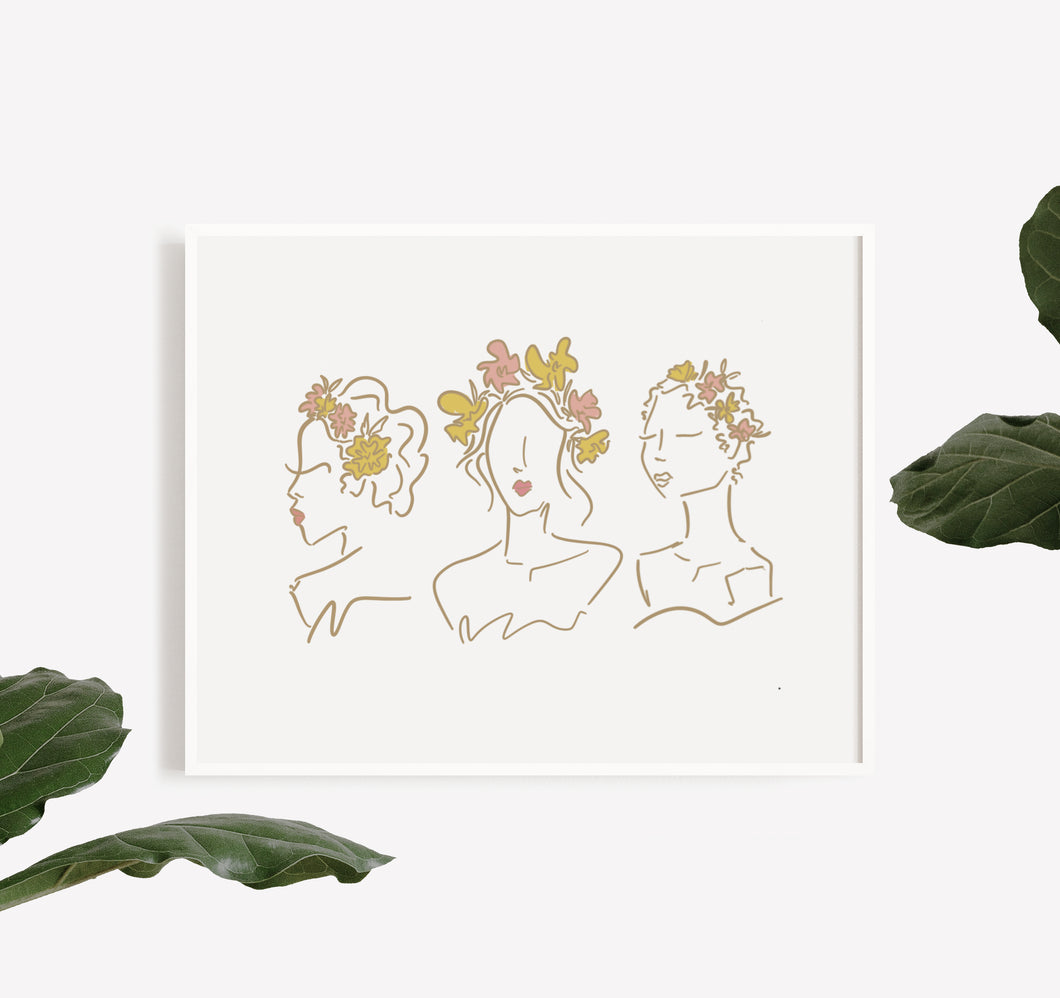 Women in Bloom Print