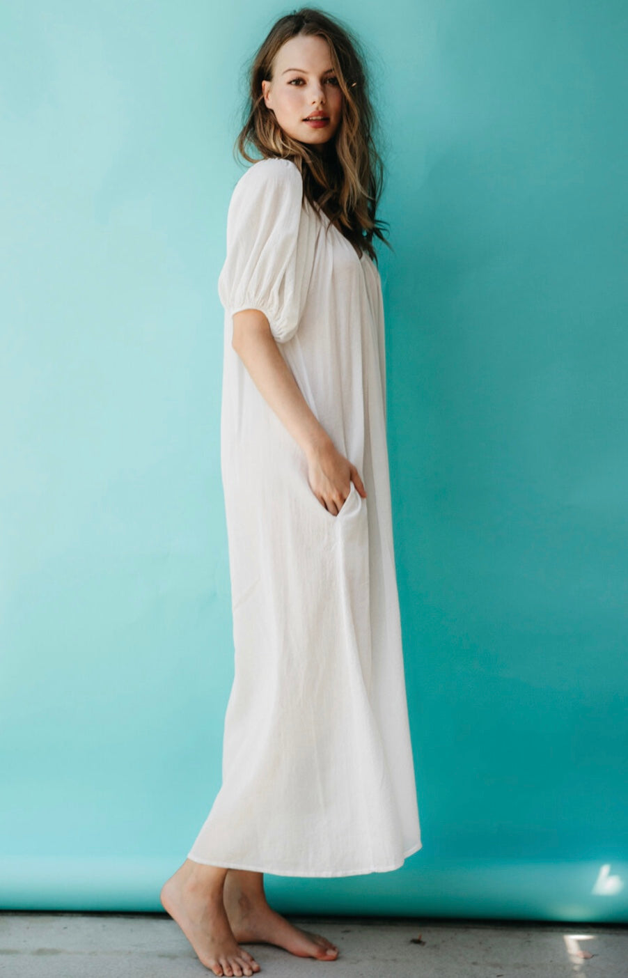 Sandhill Cove Dress White