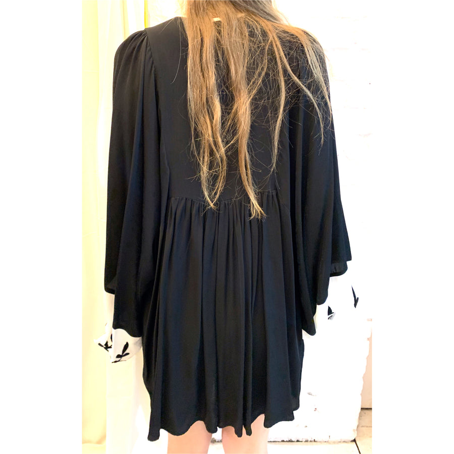 Vintage Drape Shift Dress