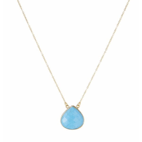 Large Teardrop Necklace Turquoise