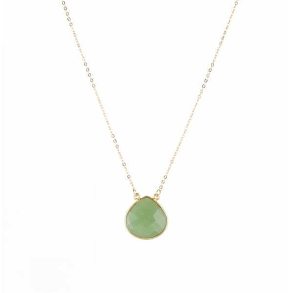 Large Teardrop Necklace Apple Green