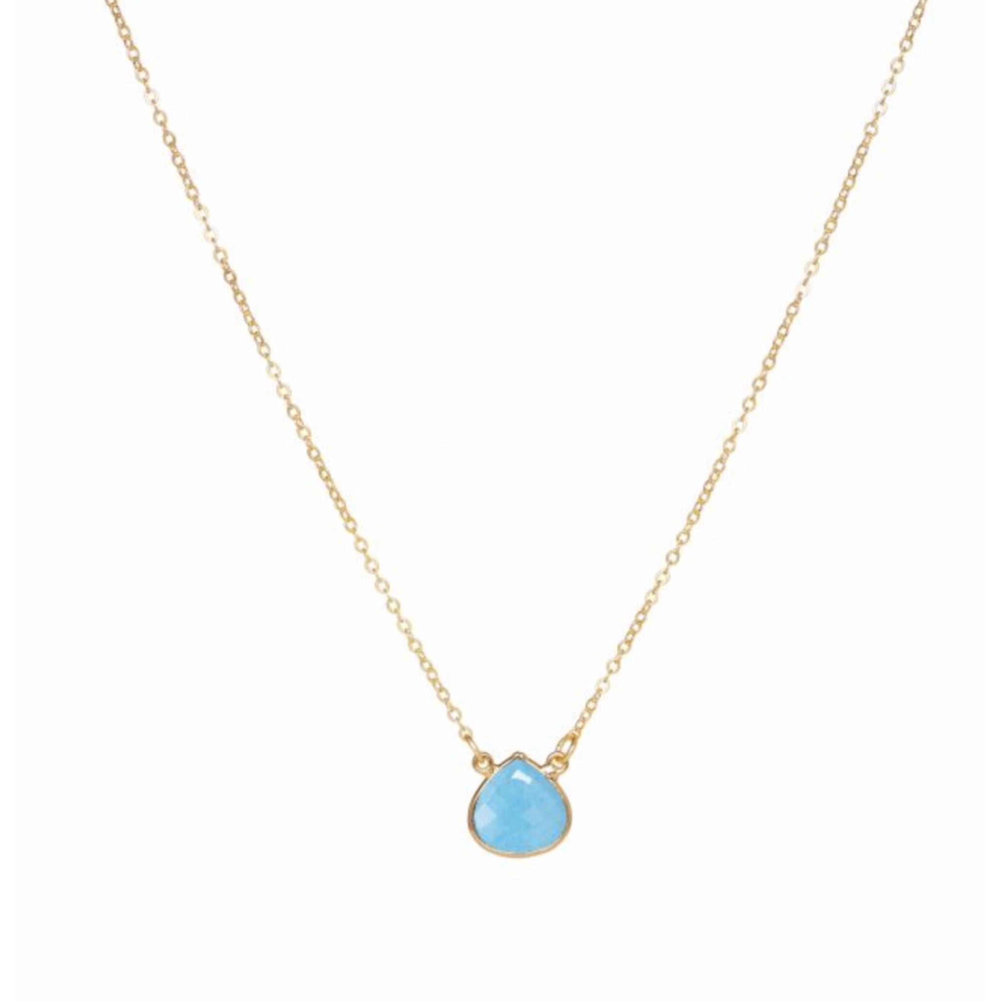 Small Teardrop Necklace Turquoise