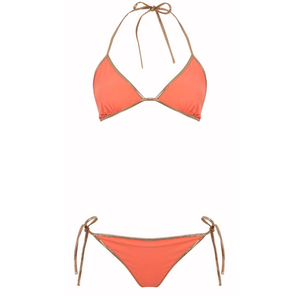 Hampton Reversible Bikini / Orange & Navy