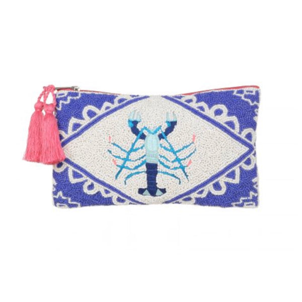 Lobster Beaded Clutch