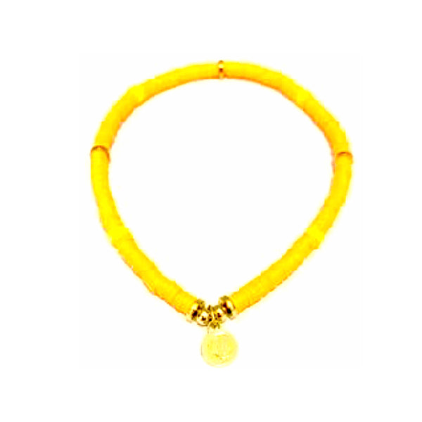 Skinny Disc Bracelet Orange