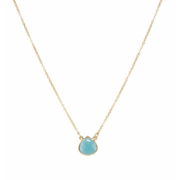 Small Teardrop Necklace Aqua