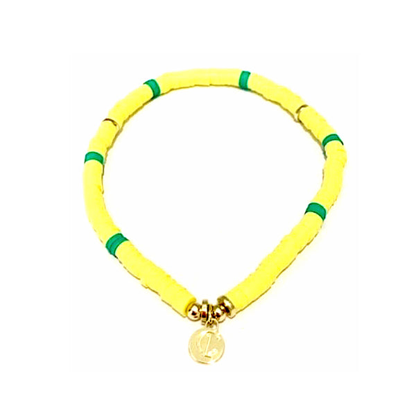 Skinny Disc Bracelet Yellow