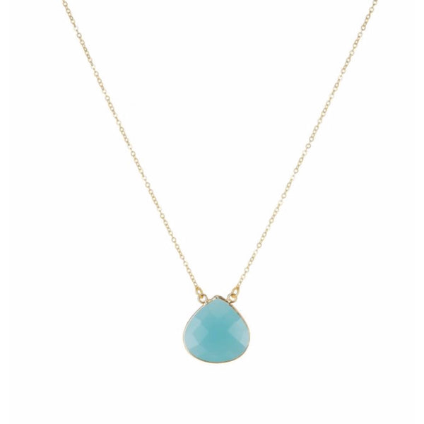 Large Teardrop Necklace Aqua