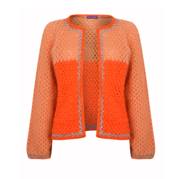 Women's Orange cardigan, jacket summer