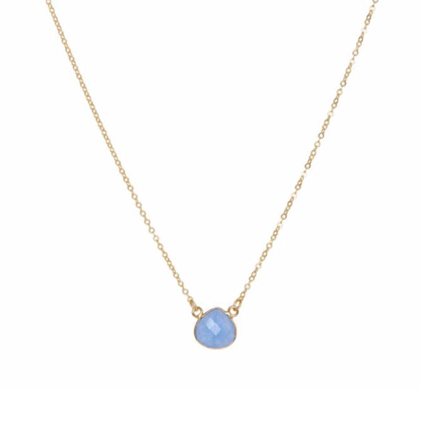 Small Teardrop Necklace Blue Jade