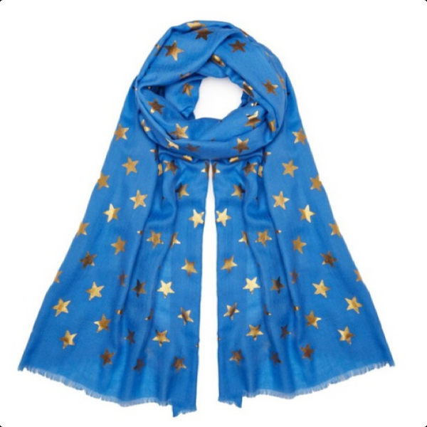Star Pashmina - Electric Blue
