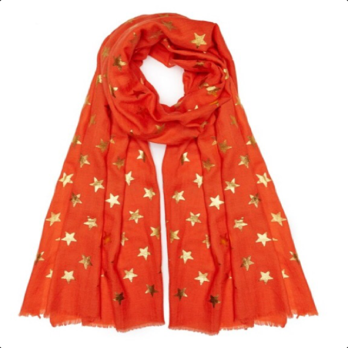 Star Pashmina - Orange
