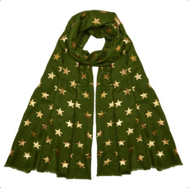 Star Pashmina - Emerald Green