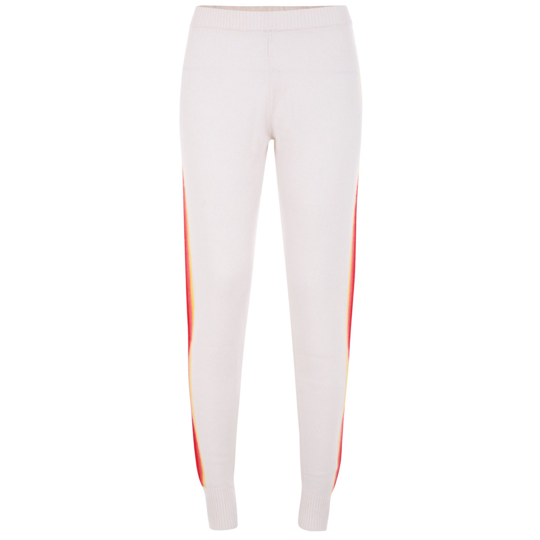Sports Stripe Leggings - Off White