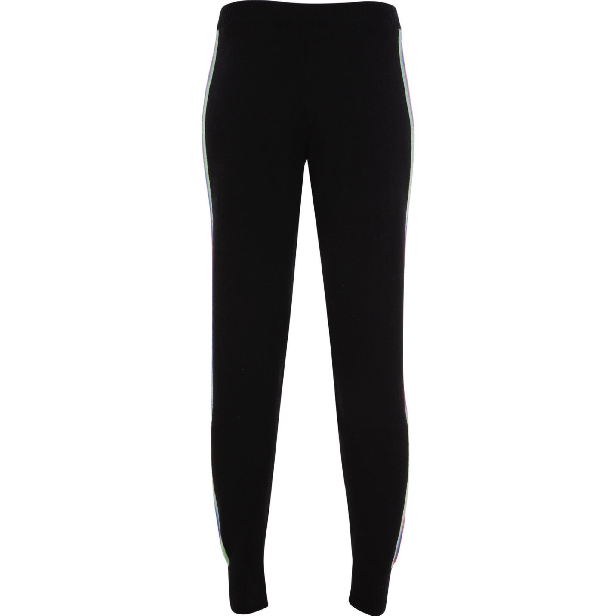 Sports Stripe Leggings - Jet Black
