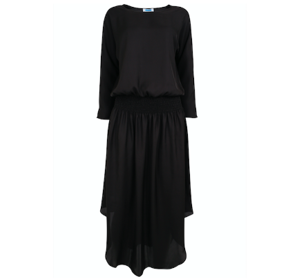 Plain Jane Midi Dress - Black