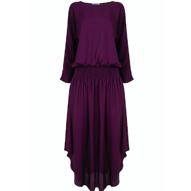 Plain Jane Midi Dress - Aubergine