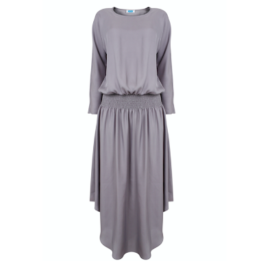 Plain Jane Midi Dress - Silver