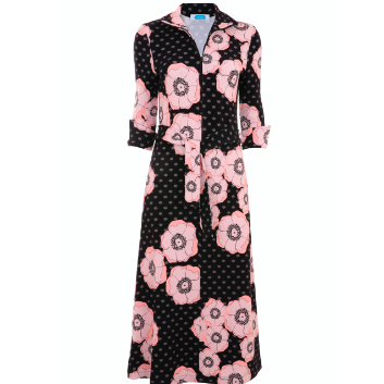 Shirt Dress - Black Floral