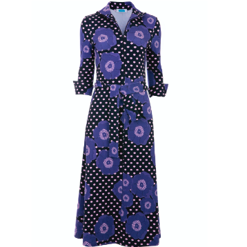 Shirt Dress - Blue Floral