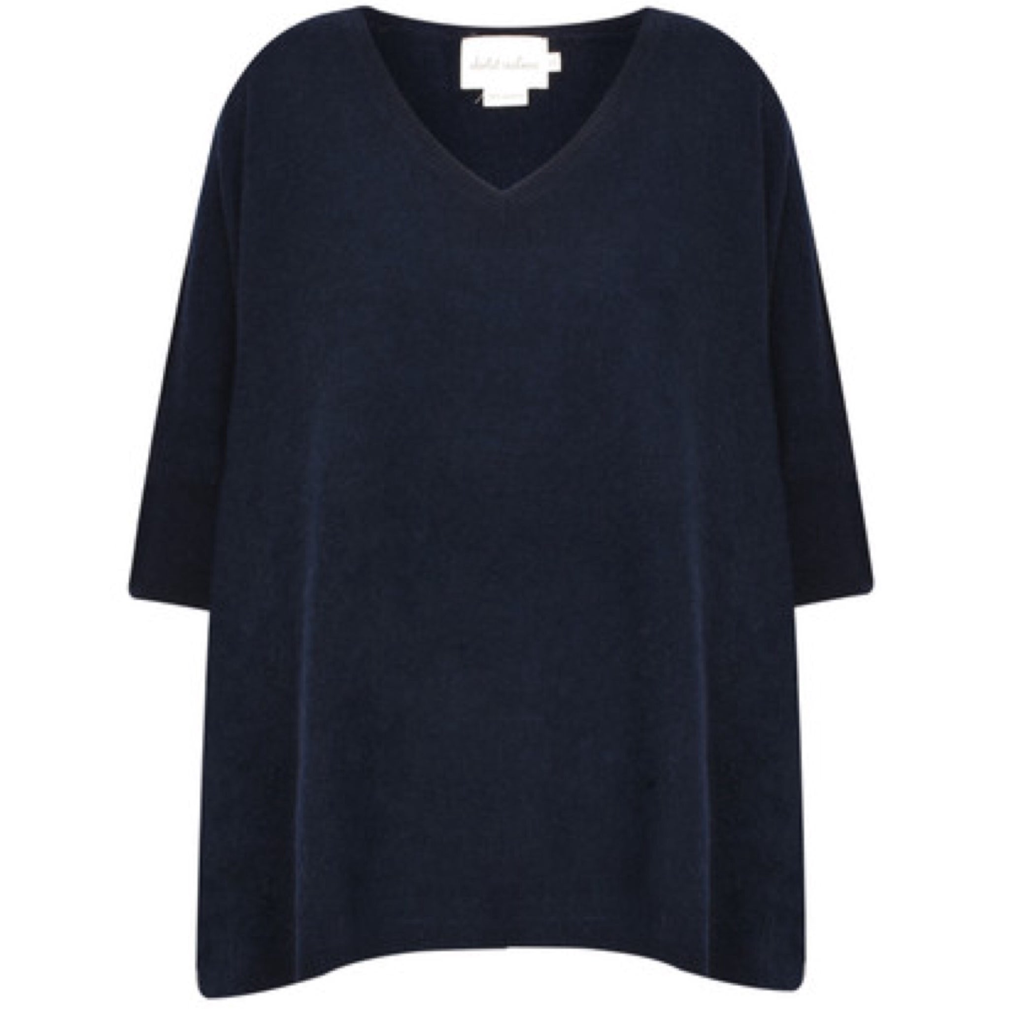 Poncho cashmere nuit (navy)