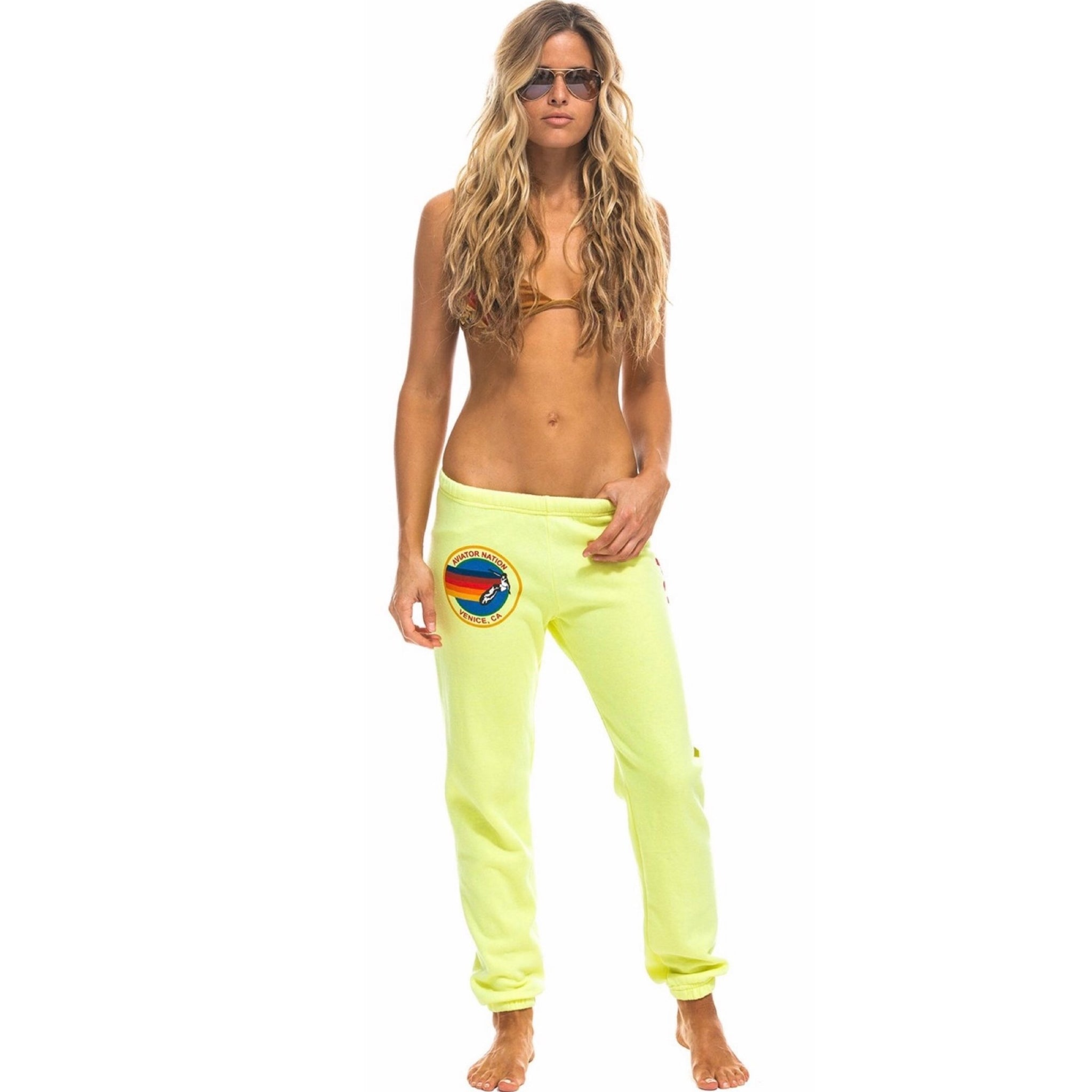 Logo Sweatpants Neon Yellow