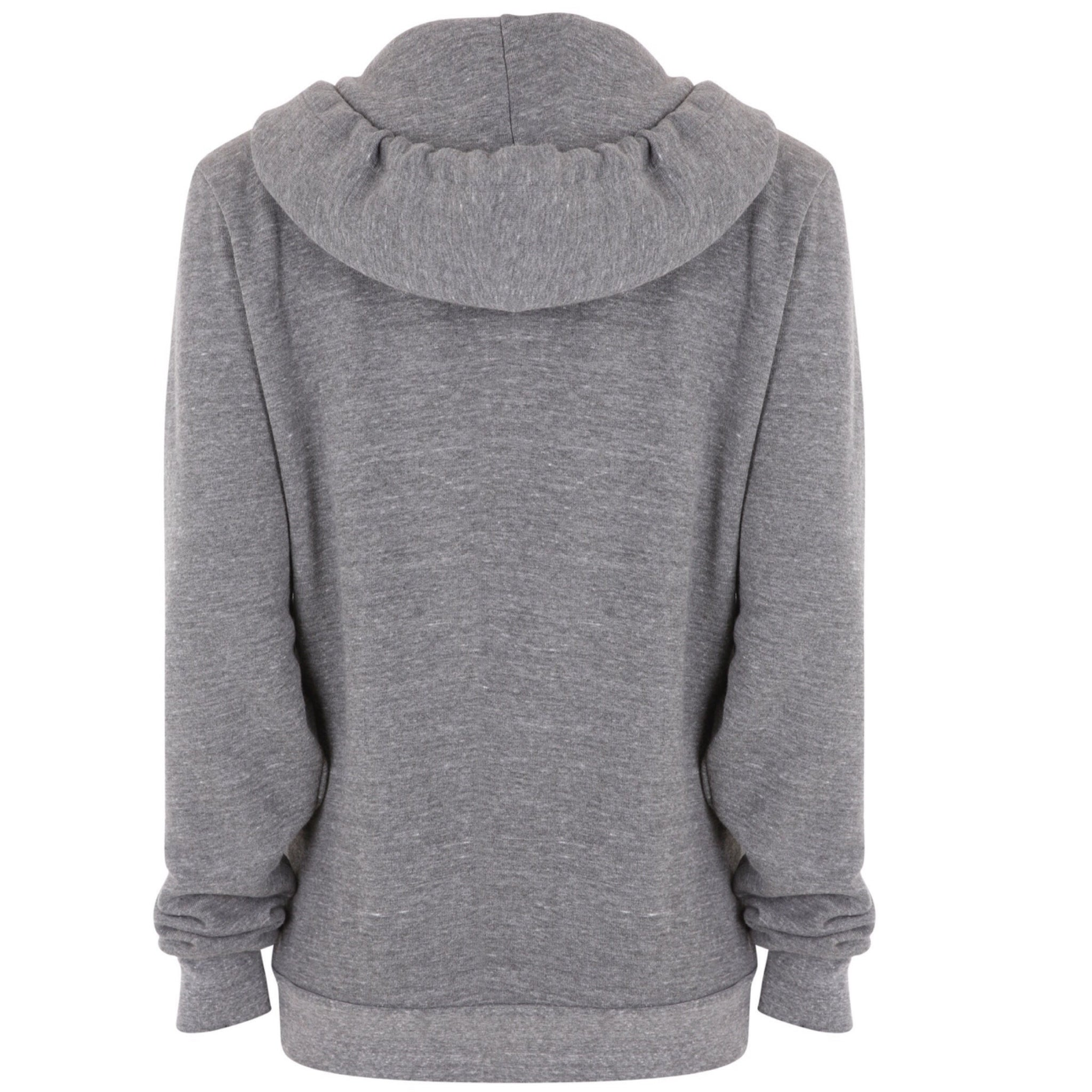 5 Stripe Heather Grey Zip Up