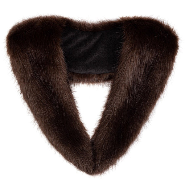 Faux Fur Scarf Brown