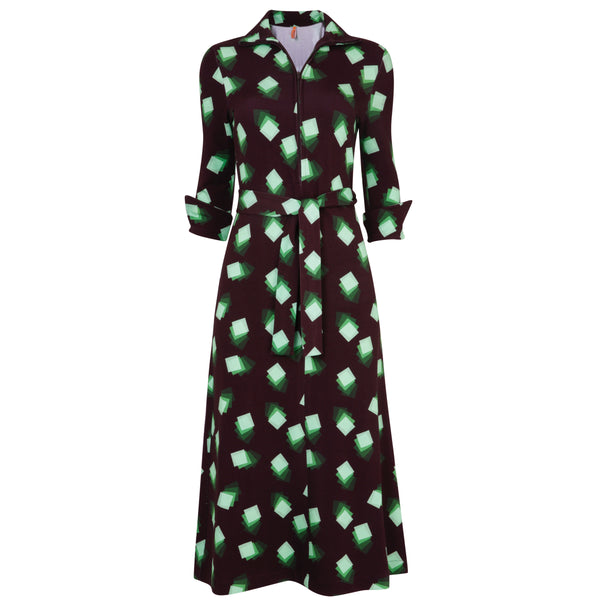 Shirt Dress Green Square