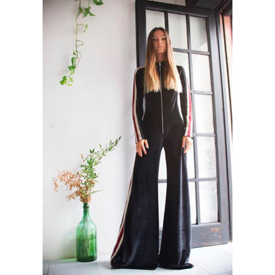 Black Velour Jumpsuit