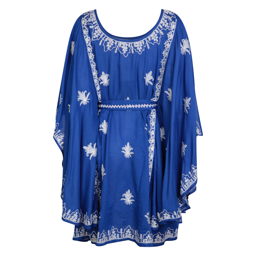 Pranella Charlston Mini Kaftan Cobalt/White