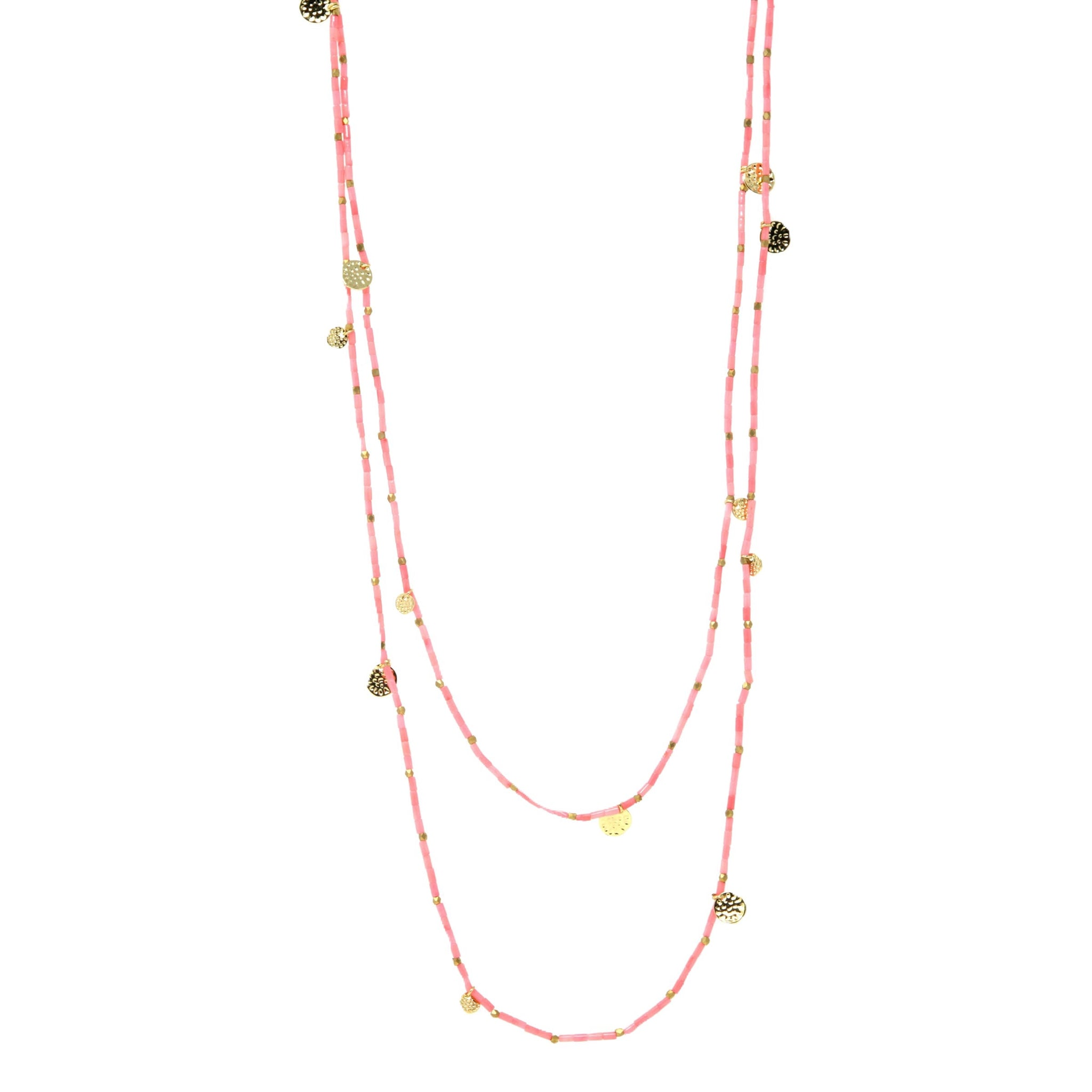 Balearic Necklace Pink