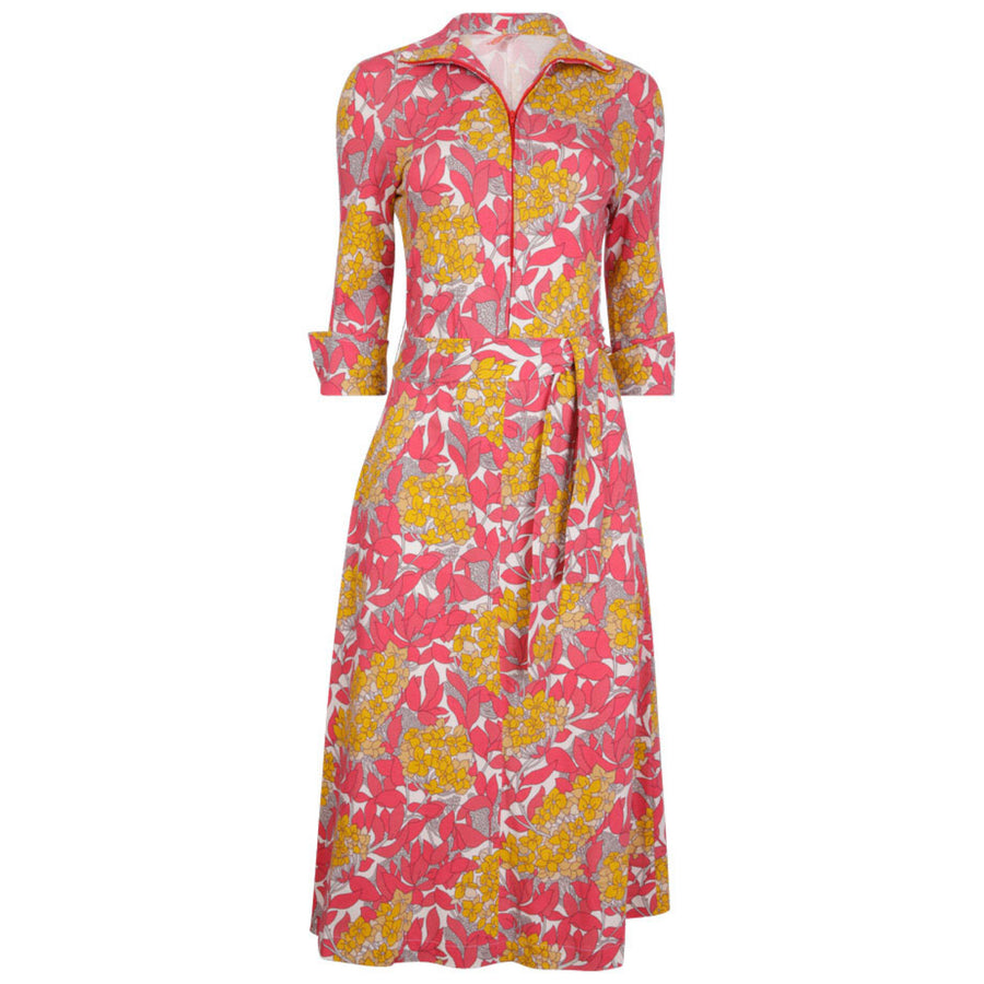 Shirt Dress Pink Hydrangea