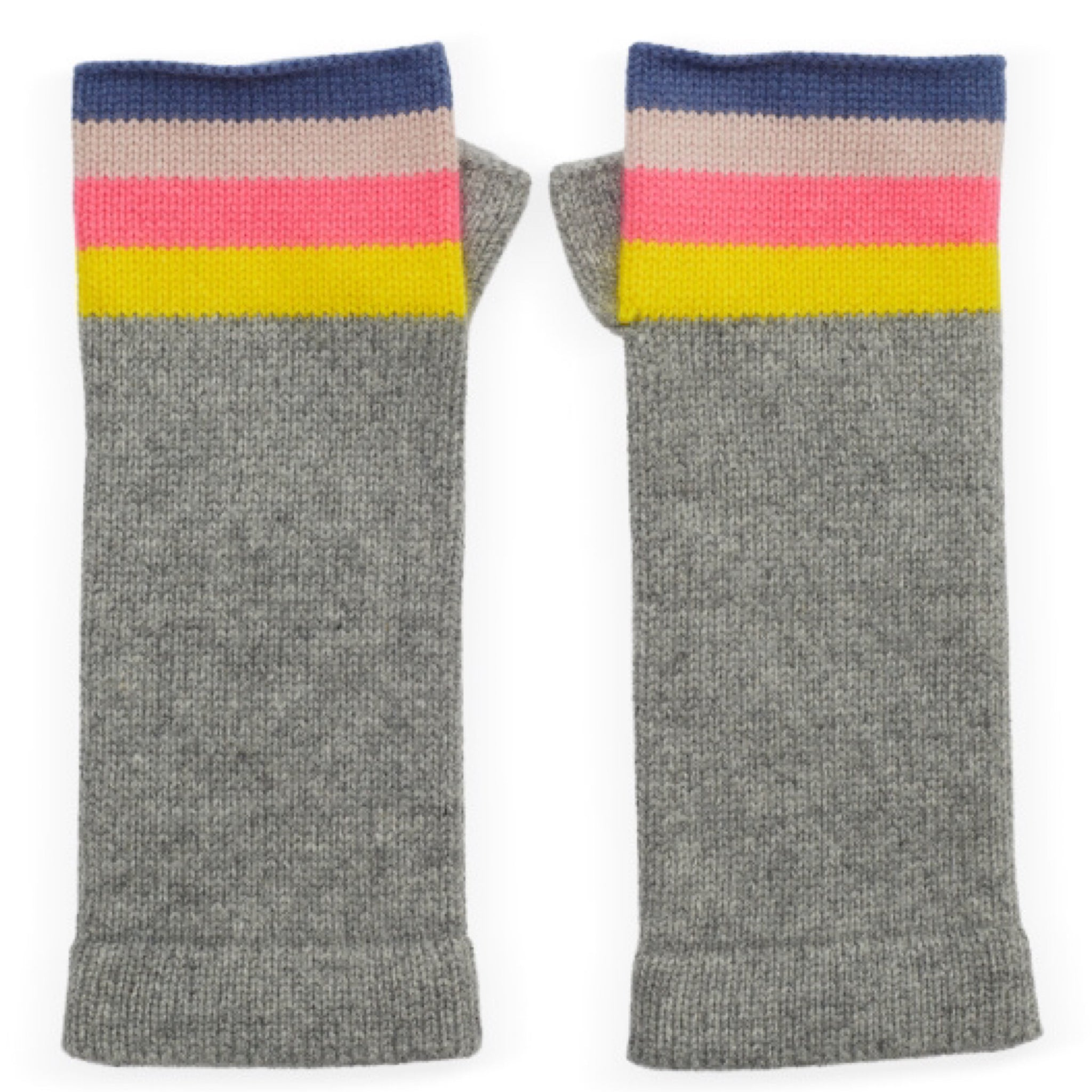 Rainbow Pale Grey Wrist Warmers