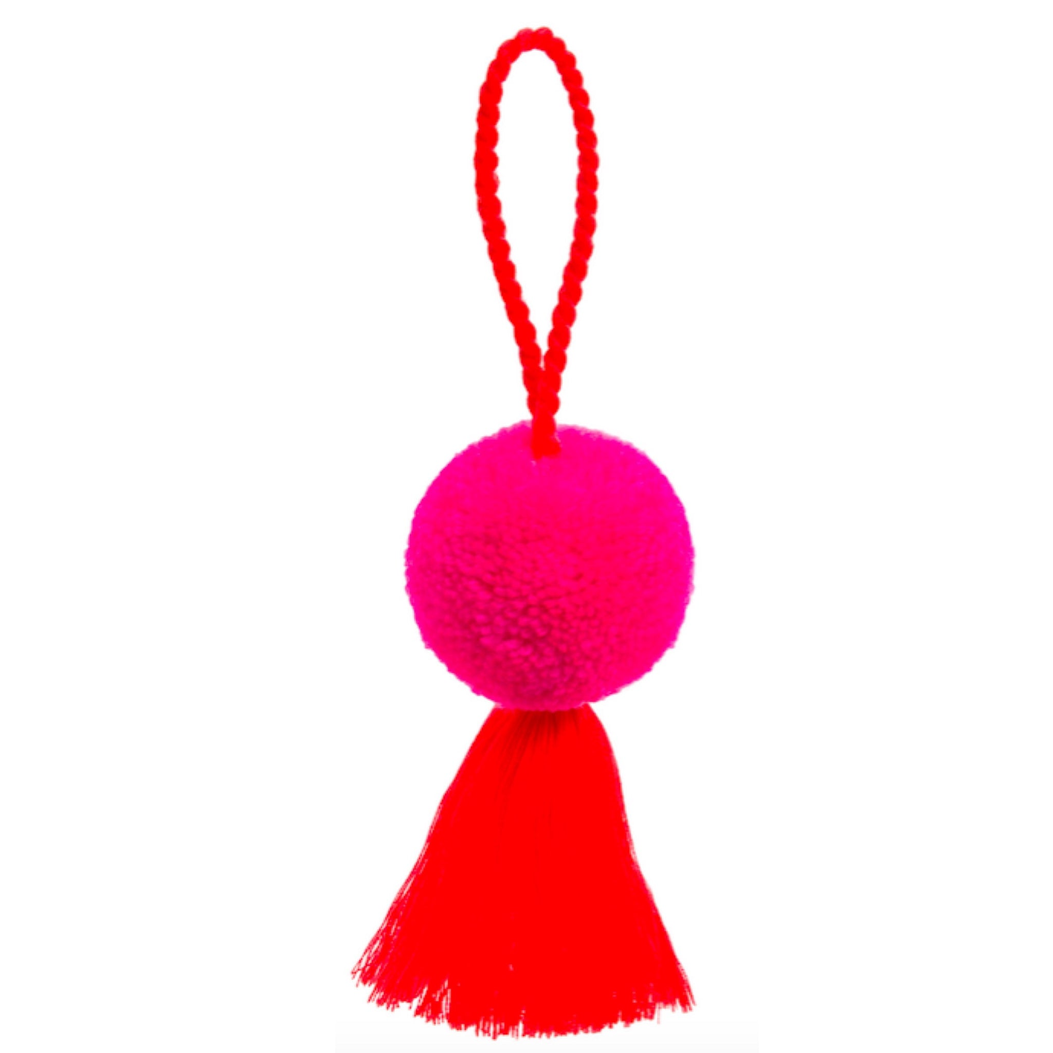 Pom Pom and Tassel Bauble - Pink