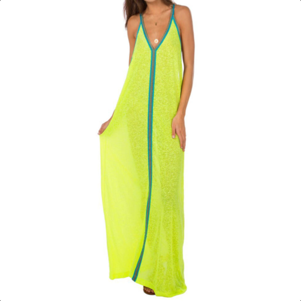 Inca Sundress Lemon With Turquoise Braid
