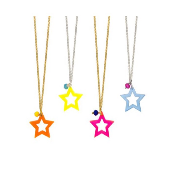 Neon Super Star Necklaces