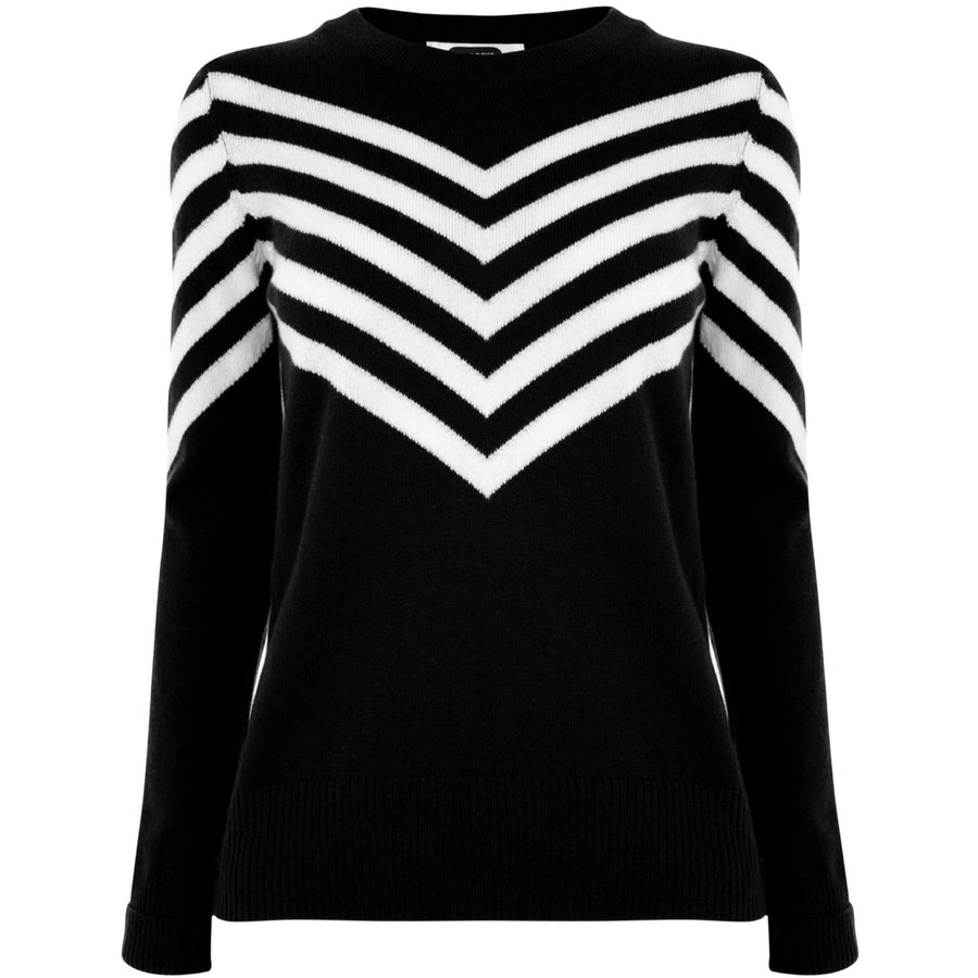 Sports Stripe Jumper - Jet Black